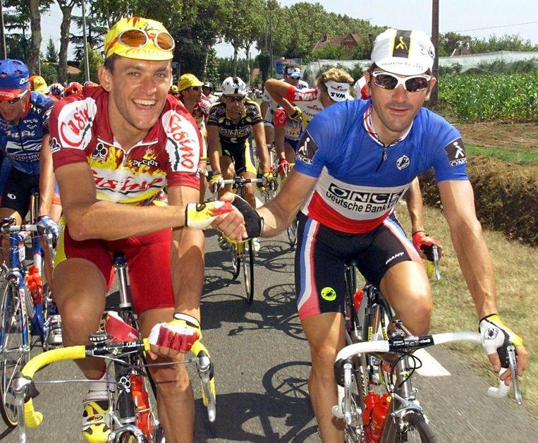 Laurent Jalabert (rechts) gebruikte ook, net als de landgenoot met wie hij hier op de foto staat, Jacky Durand. Beeld null