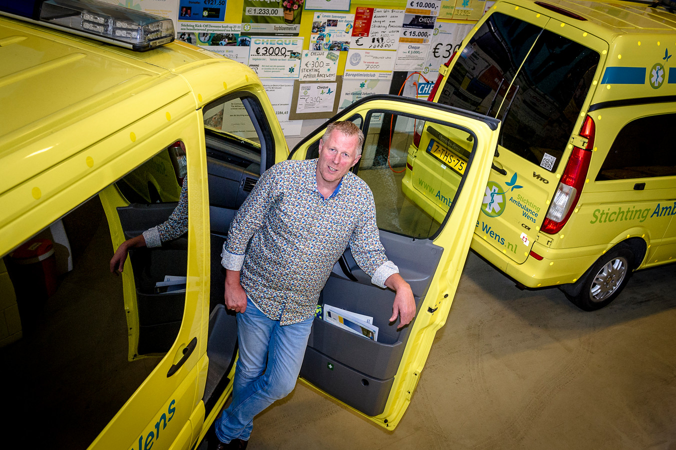 Kees Veldboer, oprichter Stichting Ambulance Wens.