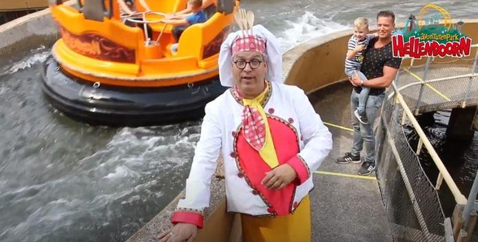 Screenshot van de video waarin Avonturenpark Hellendoorn bekendmaakt weer open te zijn.