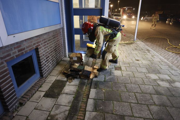 Brand in kelder woning Eindhoven.