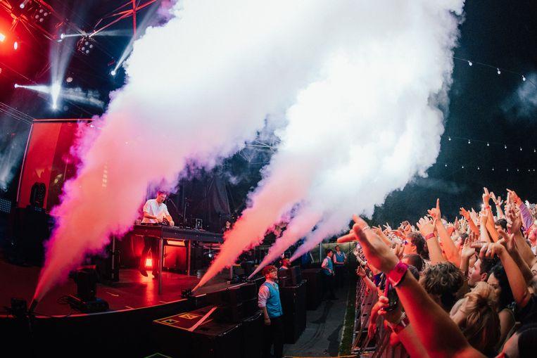 Concert Netsky in Christchurch, Nieuw-Zeeland, vorige donderdag. Beeld Joel McDowell