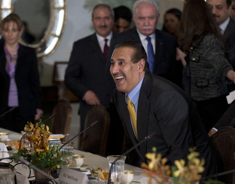 De premier van Qatar. Hamad bin Jassim bin Jabr Al-Thani Beeld ap