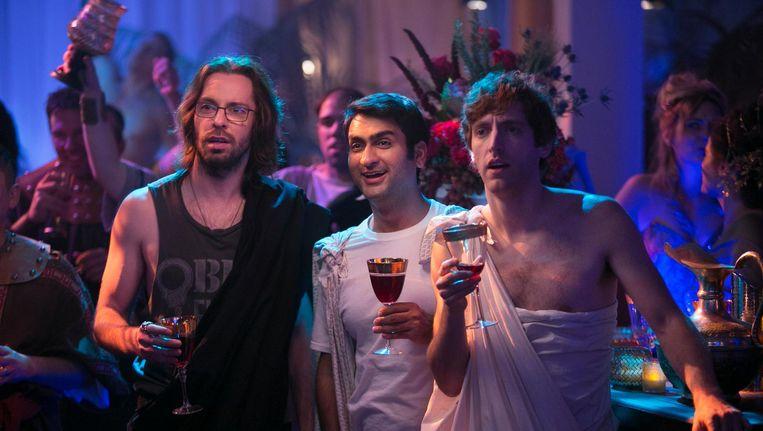 Scène uit de HBO-sitcom Silicon Valley, een Amerikaanse televisieserie over een technologiebedrijf in Silicon Valley in Californië. Beeld