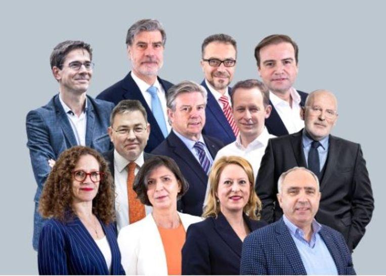 De Europese lijsttrekkers. Beeld Volkskrant