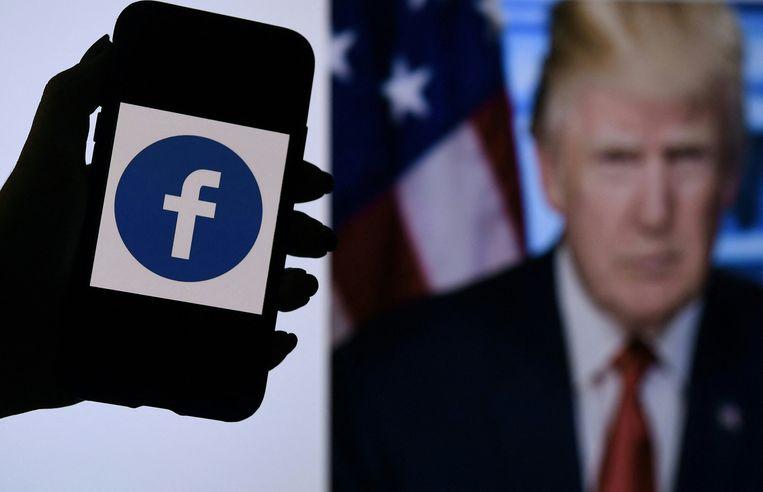 Voor oud-president Donald Trump waren sociale media een belangrijk platform om zijn kiezers te bereiken.  Beeld AFP