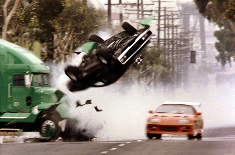 Crash in 'The Fast and the Furious' (2001). Beeld Imageselect