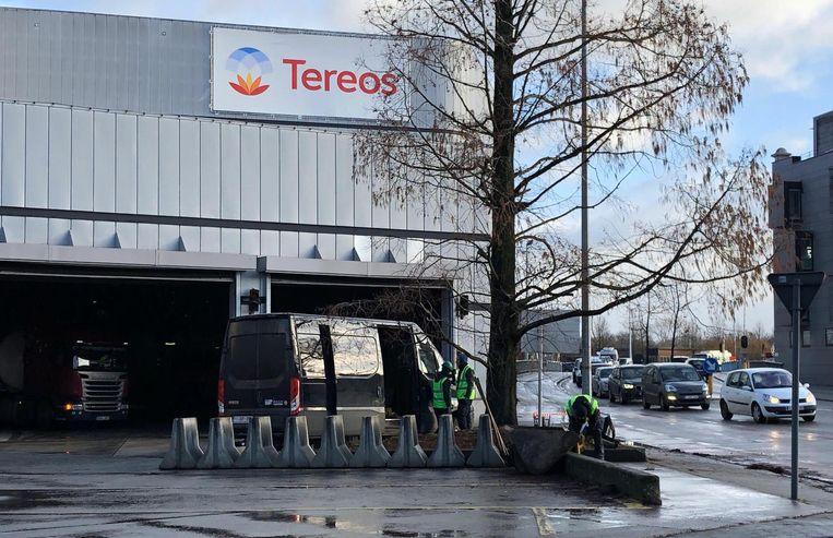 De werken aan het hek van Tereos zijn van start gegaan.