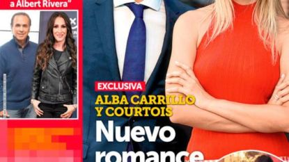 Thibaut Courtois op date met ex-vrouw van Spaanse tennisser en dat haalt voorpagina Spaans magazine