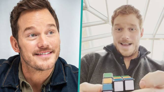 """Chris Pratt lost Rubik's Cube in minder dan een minuut op: """"Hier heb ik een jaar lang voor geoefend"""""""