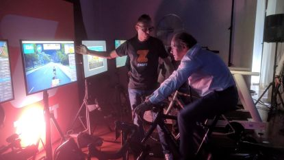 Test je benen tijdens online wielerspel
