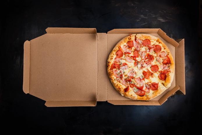 Een reguliere pizzadoos