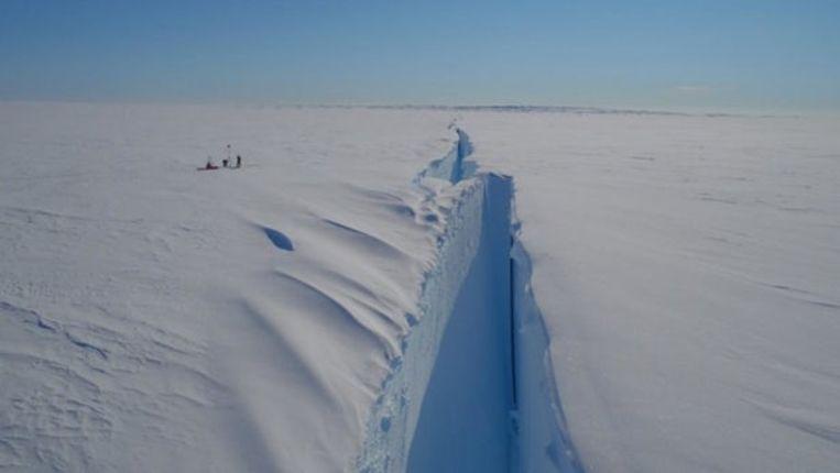 De Halloween-scheur. Beeld Jan de Rydt, Northumbria University/British Antarctic Survey