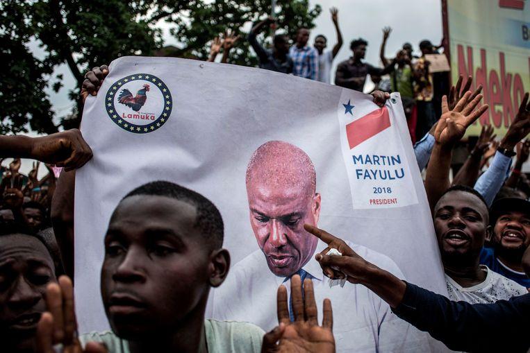 In Congo wordt er fel geprotesteerd tegen de uitkomst van de verkiezingen. Beeld AFP