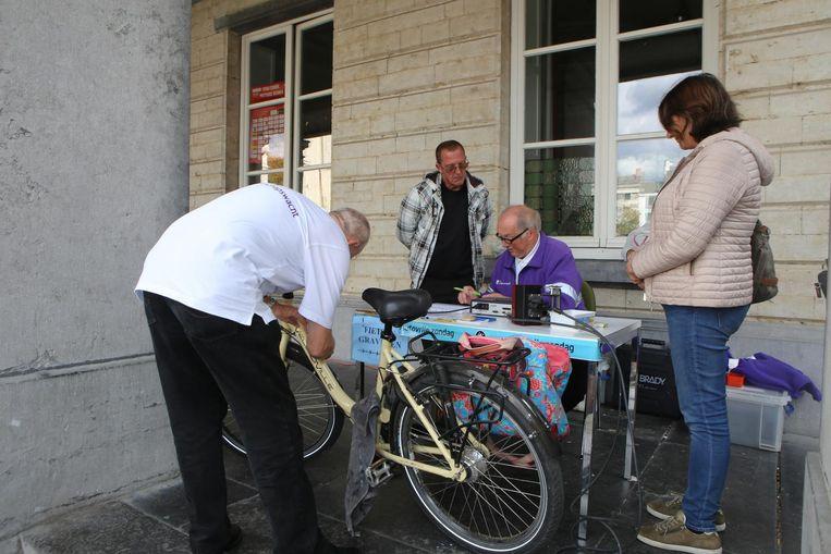 In Tienen worden fietsgraveeracties al geruime tijd aangeboden.