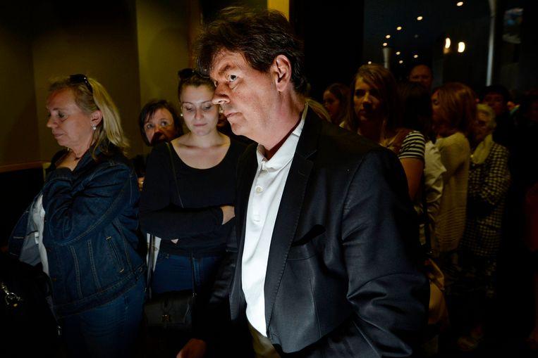 Bernard Wesphael verlaat de rechtszaal in Bergen. Beeld Photo News
