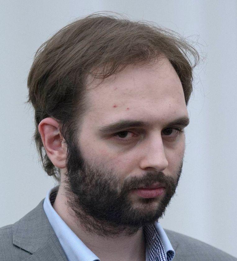 Kim De Gelder tijdens zijn proces. Beeld BELGA