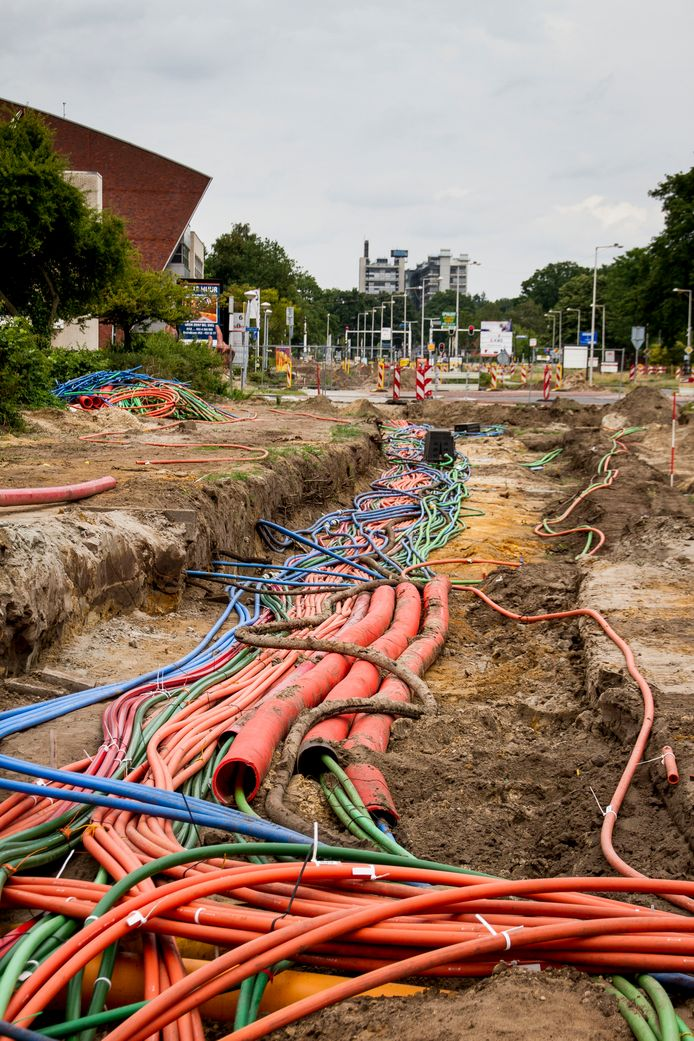 Kabelkluwen in de bodem