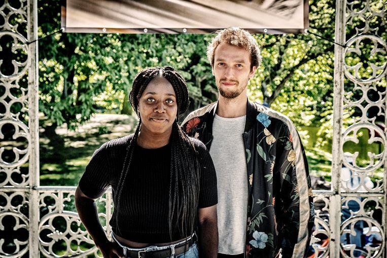 Actrice Patricia Kargbo en dramaturg Lennert Boots. Beeld Tim Dirven