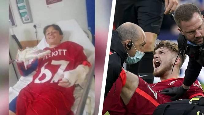Hartverwarmend: geblesseerd toptalent Liverpool geeft in ziekenhuis shirt weg aan andere pechvogel