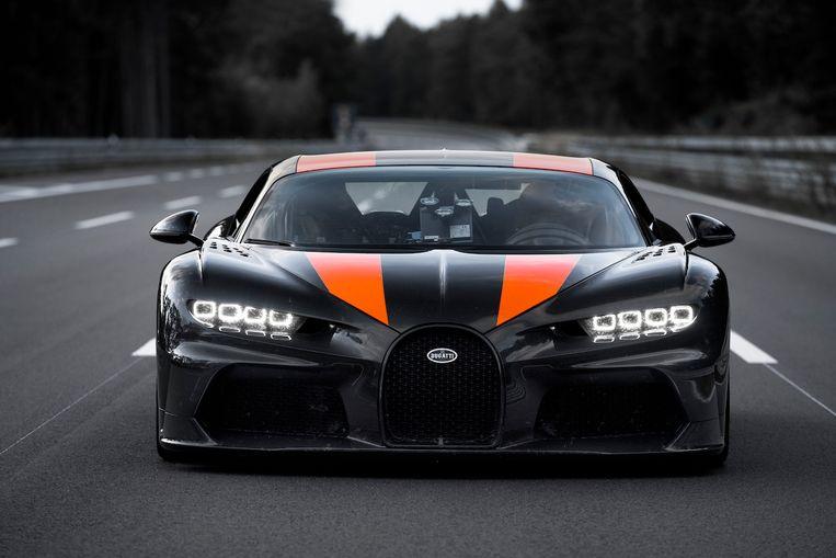 De recordauto van Bugatti. Beeld Bugatti
