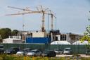 De Amerikaanse ambassade in aanbouw te Wassenaar