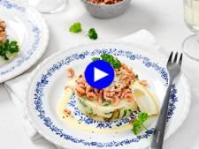 Associez les chicons, les crevettes et la purée pour ce plat 100% comfort food et 100% belge