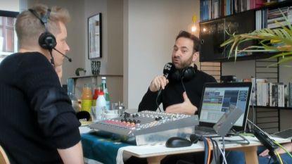 Stubru-presentator Stijn Vlaeminck presenteert vanuit huiskamer in Gentbrugge
