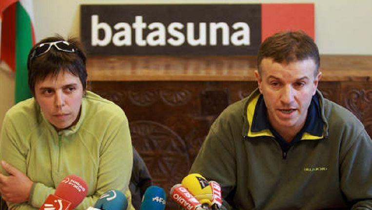 Maite Goyenetxe en Jean Claude Aguerre, twee leden van de beweging Batasuna. Beeld AP
