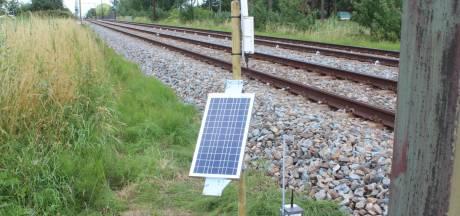 Sensoren checken elke tien minuten het spoor bij Culemborg