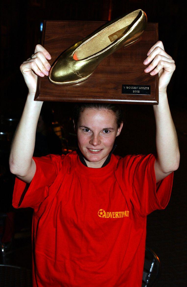 In 2002 was Femke Maes de winnares van het 'Gouden Muiltje'