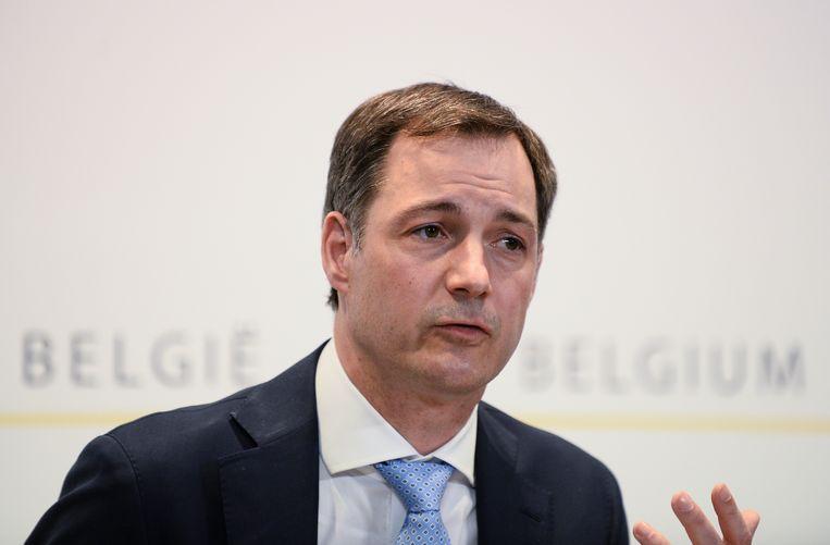 Premier Alexander De Croo (Open Vld). Beeld BELGA