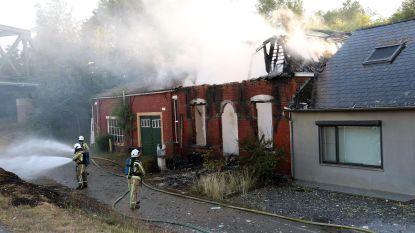 Oude boerderij gaat in vlammen op