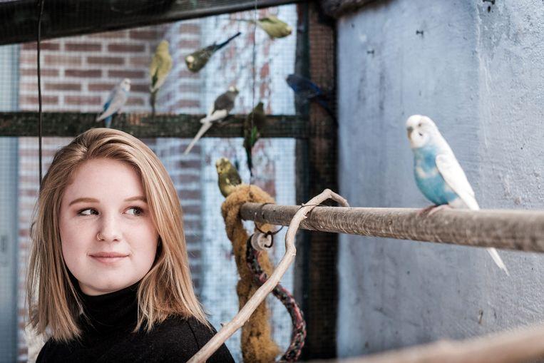 Kyra Gantois, mede-oprichtster van Youth for Climate. Beeld Bob Van Mol
