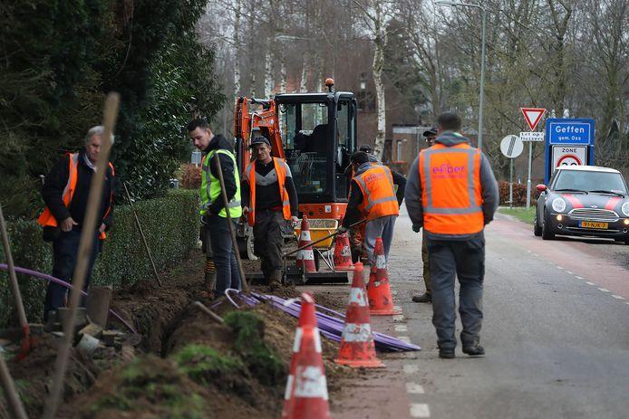Het elfde gaslek in Geffen wordt gerepareerd.