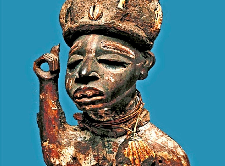 Een 'krachtbeeld' uit de Congolese collectie van Antwerpen. Beeld mas