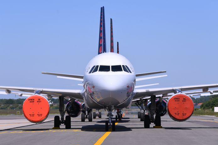 De vliegtuigen van Brussels Airlines staan nu al weken aan de grond.
