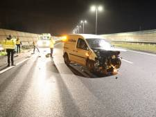 Zware schade bij eenzijdig ongeval A27