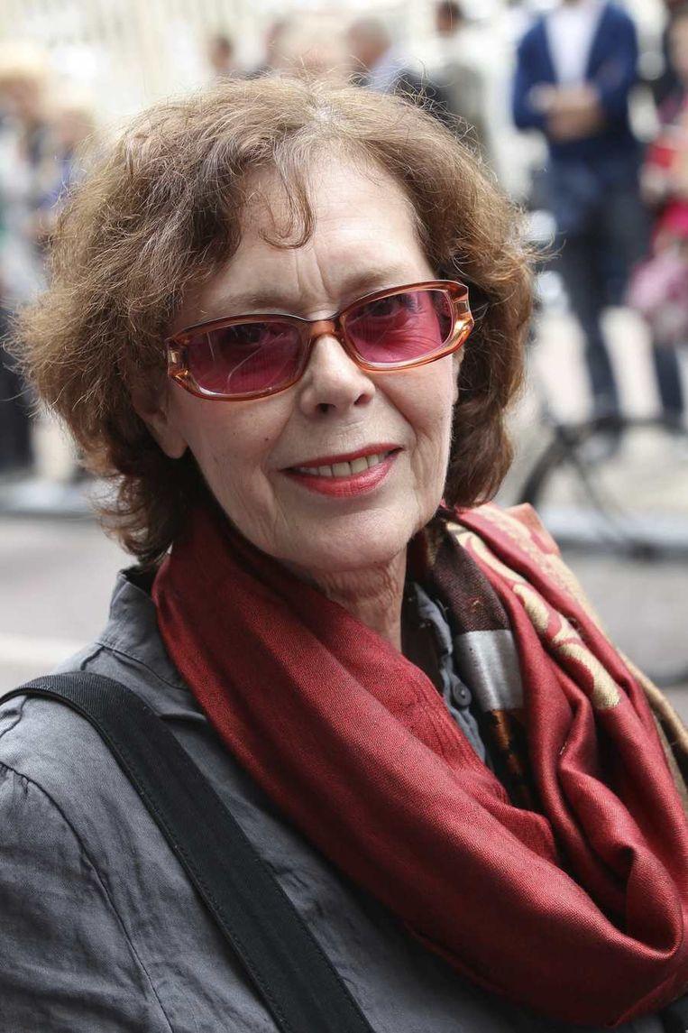 Sylvia Kristel bij de première van Hans Kloks illusieshow Circus Hurricane in het Carré in Amsterdam, juli 2011. Beeld null
