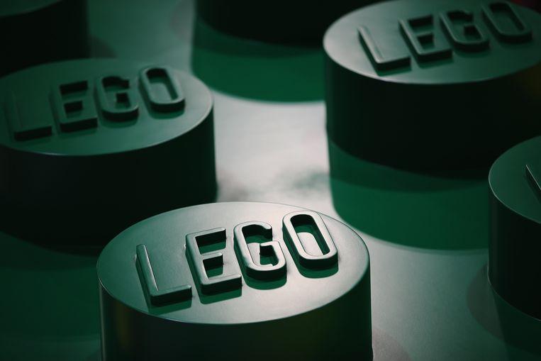 Een detail van een legoblokje.  Beeld Getty Images