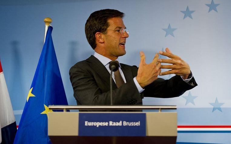 21 juli: Rutte presenteert de verkeerde cijfers. Beeld anp