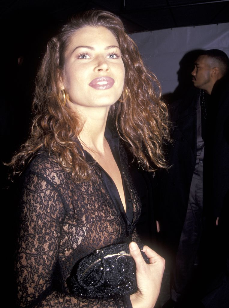 Model Carré Otis  in 1992. Beeld Ron Galella Collection via Getty