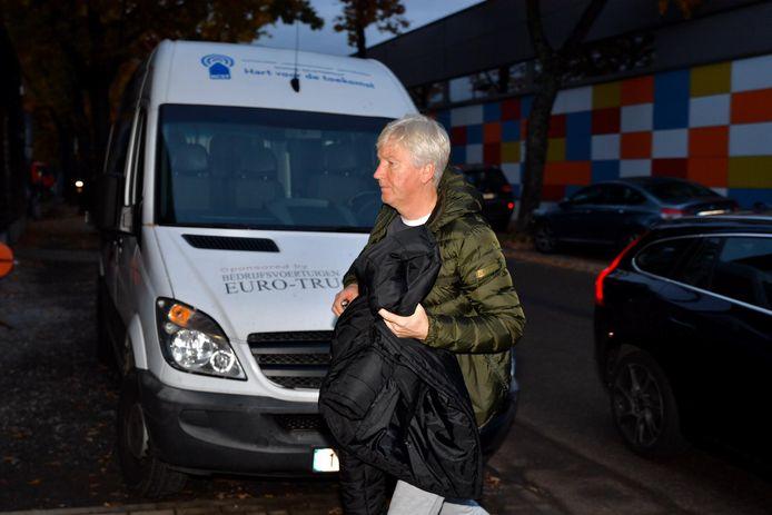 Marc Brys, vanochtend bij zijn aankomst in Sint-Truiden.
