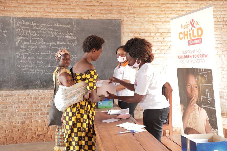 Hulpproject in Burundi van Red een Kind. Beeld Red een Kind