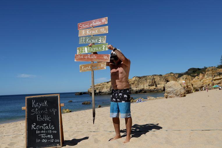Albufeira is een van de belangrijkste badplaatsen van Portugal.  Beeld AP