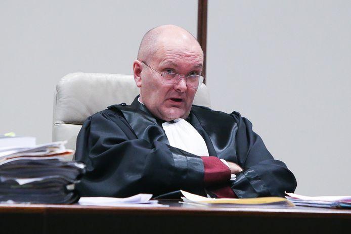 Peter Vandamme in de politierechtbank in Brugge tijdens de zaak van een jongen die met de Porsche van zijn ouders door Jabbeke racete.