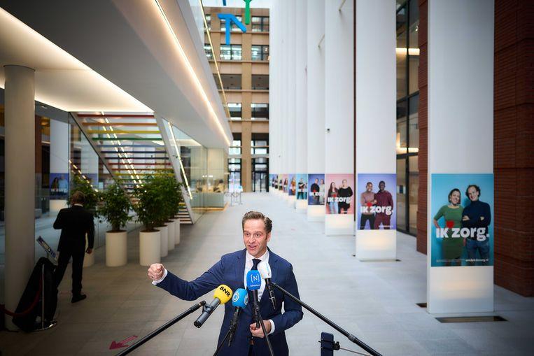 Zorgminister Hugo de Jonge. Beeld ANP