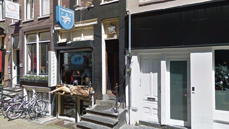 Kerkstraat 39 met daarin coffeeshop The Dolphins Beeld Google streetview
