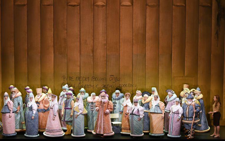 Met 'Het sprookje van tsaar Saltan' van Nikolaj Rimski-Korsakov maakt De Munt kans op een prijs in de categorie 'nieuwe productie'. Beeld Monika Forster