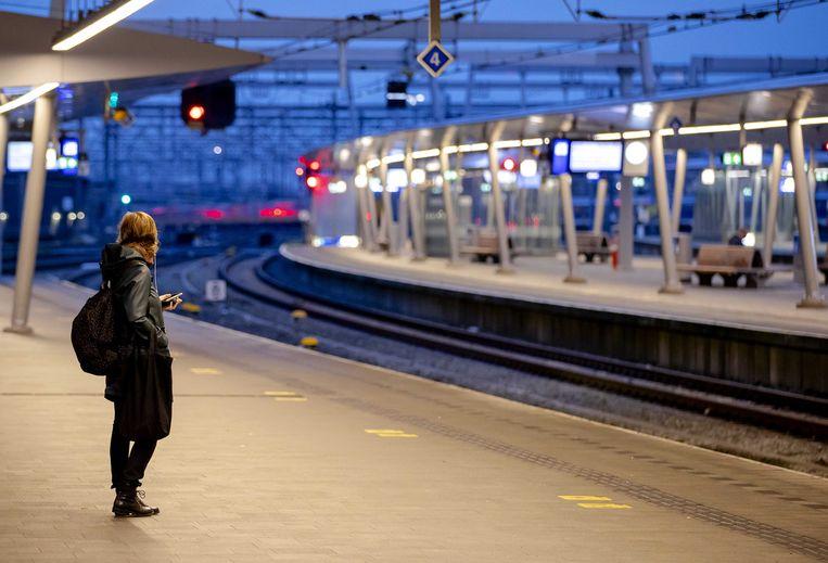 Ook rond Utrecht rijden woensdag twee uur lang geen treinen. Beeld ANP