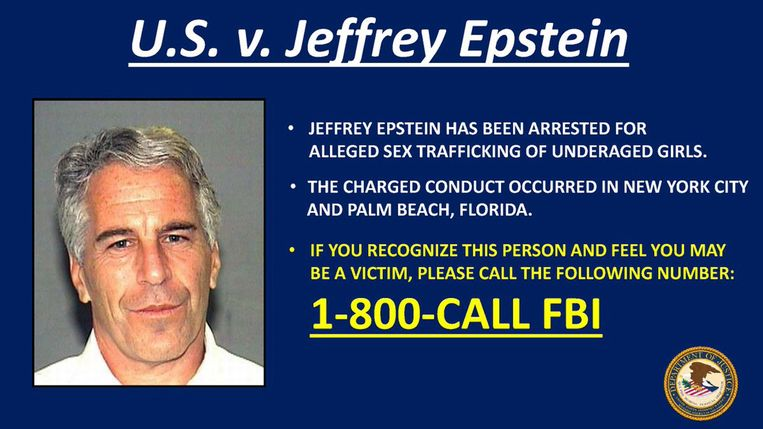 Epstein wordt verdacht van het seksueel uitbuiten en misbruiken van minderjarige meisjes, tussen 2002 en 2005. Beeld EPA